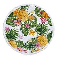 Serviette dessin animé ananas rond plaine délicate microfibre bain de bain pour couverture de plein air salon maison nageur été
