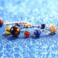 اليدوية والمجوهرات بالجملة كوكب الشمس الحجر غالاكسي الفولاذ المقاوم للصدأ سوار النساء العقيق سوار سوار