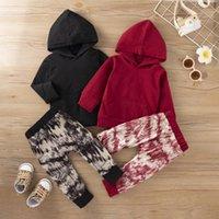 Clothing Sets Born Baby Boys Clothes Set Tie Dye Print Infant Long Sleeve Hoodies Sweatshirts Tops+Pants Toddler Girls Sportwear
