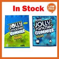 İlaçlı Jolly Smacker Rancher Gummies Çanta Ekşi 3.5g Mylar Çanta Kuru Herb Çiçek Yerler Ambalaj