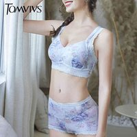 Tomvivs Cato Fit Ropa interior de las mujeres BH Set Sleep Pad Bustier Imprimir Sexy Erotic Lingerie Brasserie Pack disponible 957 + 959