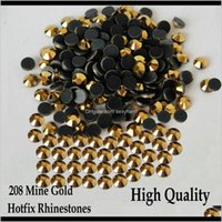 Sewing Notions Tools Apparel Drop Delivery 2021 Heat Transfer 208 Mine Gold Fix Strass Flatback Fix Rhinestones For Ss6 Ss10 Ss16 Ss20 Ss30 N