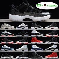 [Bracelet + chaussettes + Boîte d'origine] Jumpan 11 Chaussures de basketball Mens Sneakers Gym Gym GS Midnight Navy 'Gagnez comme 82' Space Jam JAM Concord Bred Legend Blue 11s entraîneurs pour hommes