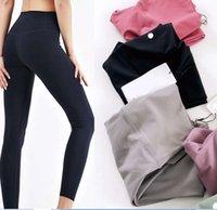 Eşofman Spor Giyim Spor Pantolon Tasarım Yoga Tayt Bayan Yoga Spandex Malzeme Kadın Tayt Lu Elastik Fitness Bayan Genel