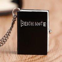 كوارتز أسود شكل جيب للملاحظة اليابانية، ذكر، قلادة صغيرة، دفتر الموت، ساعة الطفل، مبيعات الجملة