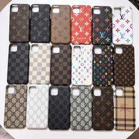 Cas de téléphone de luxe à la mode pour iPhone 12 Pro Max Mini 11 7 8 Plus x Couverture X XR XSmax Coquillage PU Samsung Galaxy S10 S20P S20 S10P GMHHF