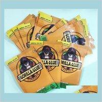 Ambalaj Ofis Okul Işletme Endüstriyel Kaliforniya 3Dot5g Mylar Koku Geçirmez Çanta Gorilla Tutkal Fermuar Çanta Kuru Herb Çiçek Packagi