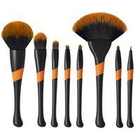 Högkvalitativ lyxmakeupborstuppsättningar 8 stycken Kosmetiska verktyg Kit Mjuka borstar som djurhår för pulver Eye Shadow Brow Fan Borstar