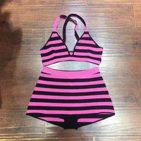 섹시한 여성 디자이너 수영복, 비키니 수영복, 수영 비치웨어 뜨개질 튜브 스플릿 2 조각 삼각형 컵 멀티 컬러 체인 패션 여름 수영복 비키니