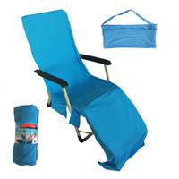 Sihirli Serin Hızlı Kuru Sandalye Plaj Havlusu Plaj Buz Havuzu Sunbath Lounger Yatak Bahçe Açık Oyunlar Plaj Sandalye Kapak Havlu CCA11688 5 adet