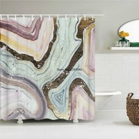 Shower Curtains Colorful Abstract 3d Printed Fabric Home Decor Multi-size Waterproof Bathtub For Bathroom With Hooks