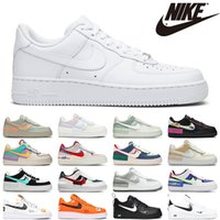 nike air force 1 uomo donna casual scarpe airforce shadow donna sneakers pale avorio pastello mistico blu navy triple bianco nero mens trainer