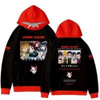 Luckyfridayf populaire Anime Demon Demon Slayer Kimetsu No Yaiba 3D Sweatshirt Hommes / Femmes Streetwear Fashion Pullovers Vêtements Y0804