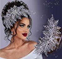 Wedding Bridal Rhinestone Headband Crown Tiara Crystal Luxury Headpiece Hair Accessories Silver Diamond Jewelry Prom Party Women Headdress Ornament Head Band