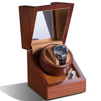 Watch Boxes & Cases High Quality 1 + 0 Of Unique Hanical Wood Winder Box Turning Rotors Mobile Case Battery Remontoir Watchwinder