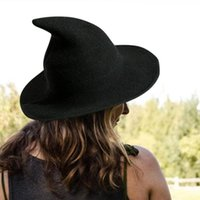 Ampio cappello da corn halloween strega cappello da uomo e lana da donna a maglia di lana a maglia di moda puro colore pieghevole Punte