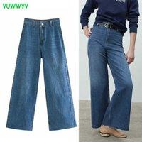 Jeans Vuwwyv Spring Blu Bianco Donna High Waist Cowboy Denim Pants Fashion Premium Marine Straight Streetwear Donne