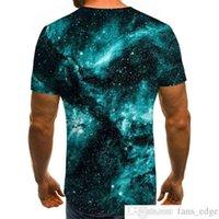 2021 New Fashion Men Mans T-shirt Beautiful Starry Sky Tops Summer Round Neck Shirt Trendy Streetwear 3D Printed Short Sleeve Style
