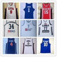2000 USA Team Carter Jersey Domantas 15 Sabonis Männer Slowenien Doncic 77 Luka # 7 Slowenija Giannis # 34 AntetokounMpo G. Griechenland Hellas Vytautas Lamelo 1 Basketball