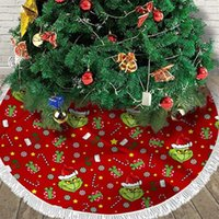 Christmas Decorations Tree Skirt Grinchs Plush Decorative Apron Carpet Floor Mat Year Home Xmas Party Decor Blanket Green Hair Monster