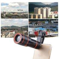Cep Telefonu Mounts Tutucular Evrensel 12x Cep Kamera Smartphone Lens HD Teleskop Optik Yakınlaştırma Klip