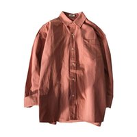 Men's Casual Shirts QIWN Summer Shirt Korean Version Of Solid Color Long-sleeved Japanese Trend Loose Simple Cotton And Linen