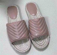 Женские летние кожаные ткацкие пляжные тапочки открытые пальцы на плоских каблуках сандалии элегантные сексуальные наружные слайды женские туфли 2o21 Fashio
