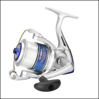 الرياضة في الهواء الطلق الجودة جودة الأسماك بكرات مع خط 12BB يطير عجلة للطازجة / ملح البحر الغزل بكرة الكارب الصيد قطرة التسليم 2021