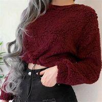 Sell Sexy Women Blouse Teddy Bear Fluffy Long Sleeve Sweatshirt Pullover Top Sweater Jumper Warm Autumn Shirt Women's Blouses & Shirts