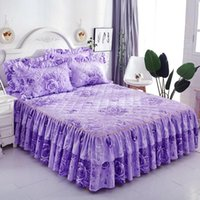 Sheets & Sets Thickening Comforter Bedding Colourful Home Bedspreads cases Bedroom Set Queen Full Size Bed Frame Cute Skirt Sheet