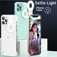 Beauty Fill light Mobile Phone Cases For iphone 12 Mini 11 Pro Max Selfie Light Portable cellPhone Cover back case