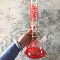 2020 красное дерево стекло бонг кальян стеклянные водопроводные трубы стакан рециркулятора 11-дюймовые бонги DAB буровой барабанчик нефтяной горел ясень коварный пузырь 14 мм чаша