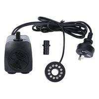 800L / H 15W pompe submersible mini eau puissante avec cordon d'alimentation et lumière LED pour les fontaines de réservoirs de poisson d'aquarium Étangs A Pompes à air Accessori