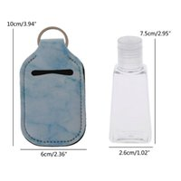 Storage Bottles & Jars Hand Sanitizer Keychain Holder Small Empty Travel Bottle Refillable Containers Reusable With Carriers