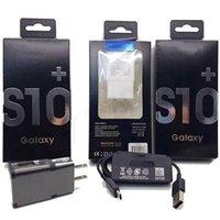 15 W Orijinal OEM Siyah / Beyaz Hızlı Seyahat Adaptörü Duvar Şarj + Tip-C Kablosu Samsung Galaxy S8 Artı S10 Moto Için Perakende Ambalajlı