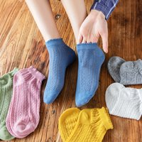 Woman Socks Spring New Fashion Summer Solid Hollow Out Women Soft Cute Long Socks For Women Mesh Thin White Sweet