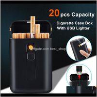 Cas d'une capacité de 20 pcs avec des gadgets de cigarette électroniques USB briquet pour hommes T200111 0CDO 8EQA1
