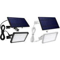 Außenwandlampen 48 LED Solar Lichter Powered Porch Gartenlampe wasserdichte Beleuchtung für Scheune Garage Yard