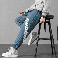 Casual hombre deportes moda primavera nuevo coreano suelto tubo recto versátil patas de piernas d