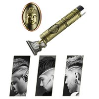 Close-cutting Digital Hair Trimmer Rechargeable Electric Clipper Gold Barbershop Cordless 0mm T-blade Baldheaded Outliner Men VS Kemei