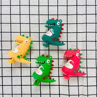 Decompression toy fidget toys creative silicone cartoon dinosaur doll keychain male and female three-dimensional new year pendant small gift DHL free