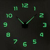 Wall Clocks Luminous Clock 100cm Large Hanging DIY Digital Quiet Glowing For Home Art Living Room Modern Decorations