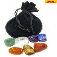 10set 자연 크리스탈 차크라 스톤 7pcs 세트 자연 돌 팜 Reiki 치유 크리스탈 보석 홈 장식 액세서리 Ca23