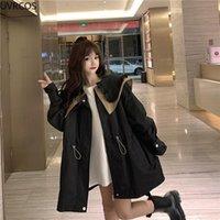 Women's Trench Coats Autumn Winter Sailor Collar Women Japanese Sweet Lolita Style Loose Jackets Female Cute Outerwear Fashion Windbreaker