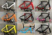 80 colores F12 disco mate negro marco cc 1k marco de carreteras de carbono 1k bicicleta de carbono Friendset + la mayoría de las bicicletas de la bicicleta de carretera del manillar Bicicleta de carbono A01