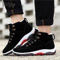 Qnvigo Men's Winter Shoes Warm Brown Ankle Comfortable Snow Winter Boots Men Plus Sneakers Fashion Hotsale 2020 Mens Shoe