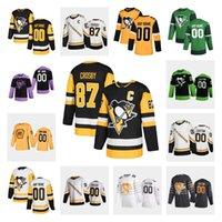 Custom Pittsburgh Penguins Sidney Crosby Hockey Jersey Jake Guentzel Evgeni Malkin Phil Varone Bryan Rust Kris Letang Casey DeSmith Jerseys