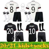 2021 2022 National Kid Kit Germania Soccer Jerseys 20 21 Hummels Kroos Draxler Reus Muller Gotze Kimmich Gioventù Bambino Bambino Camicia da calcio uniforme