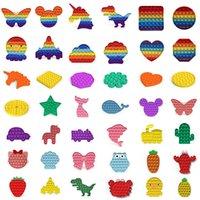 100 стилей Push Bubble Fidget Sensosy Toy Autism Особое потребности Стресс Reliver Toys Взрослые Дети Смешные Антистресс Fidget Toys