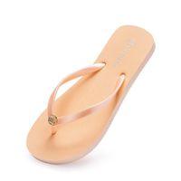 35-38 Style40 النعال أحذية الشاطئ فليب تتلاشى إمرأة الأخضر الأصفر البرتقالي البحرية بولي الأبيض الوردي الصيف الصنادل